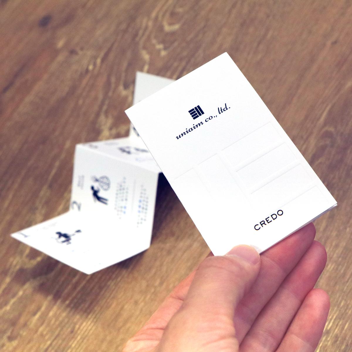 CREDOカードが出来上がりました